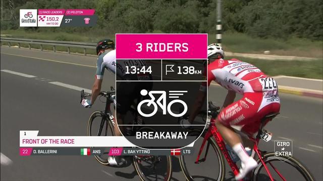 Giro de Italia 2018: Locura en Tel Aviv, esprint de manual de Viviani y Dennis nueva maglia rosa