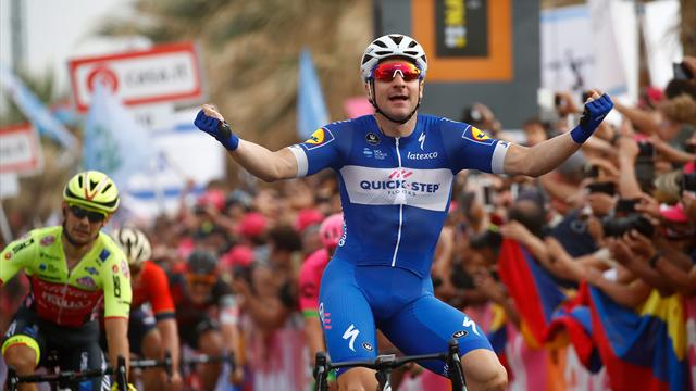 Viviani wins 2nd stage of Giro d'Italia in Tel Aviv