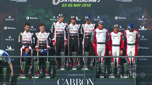 Fernando Alonso tops podium on WEC debut