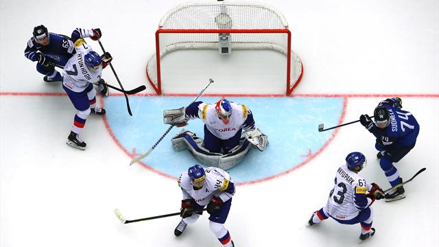 Финляндия установила рекорд чемпионатов мира похоккею вматче сЮжной Кореей