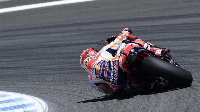Marquez il più veloce: c'è sempre lui davanti, ma Dovizioso è attaccatissimo