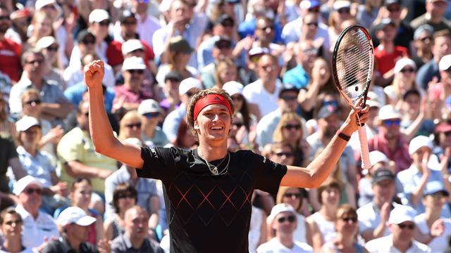 Strahlender Sieger: So triumphierte Zverev gegen Kohlschreiber