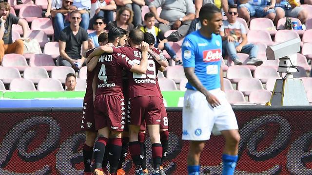 Accroché par le Torino, Naples offre quasiment le titre à la Juve