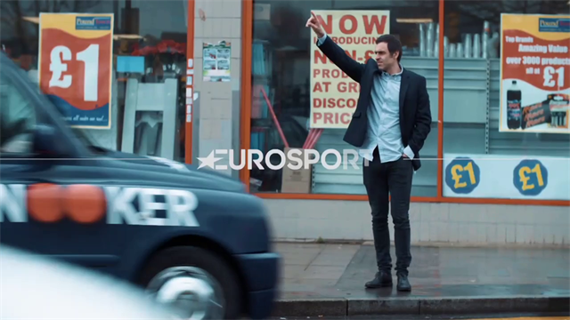 O'Sullivan and White can't contain their laughter in Eurosport cab