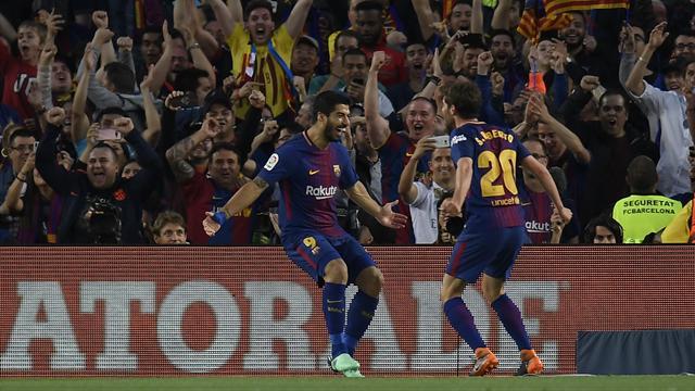 L'offensive parfaitement construite du Barça conclue par une reprise de Suarez