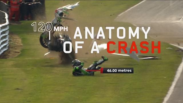 120mph crash: What's it like to come off a motorbike at that speed?