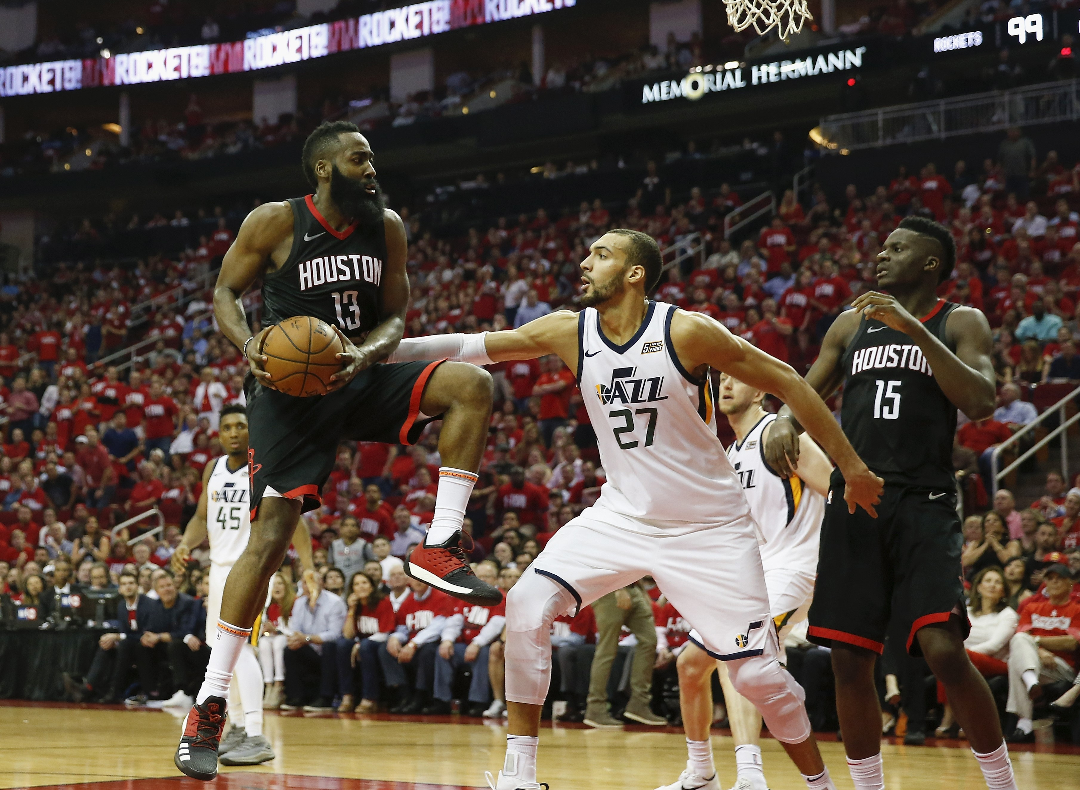 Rudy Gobert, James Harden (Houston Rockets)