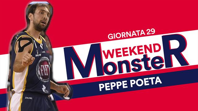 Monster weekend: Peppe Poeta serve 15 assist, record stagionale per la Serie A