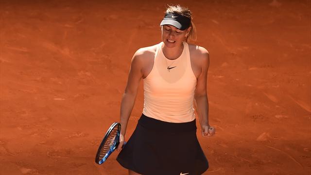 Шарапова победила Остапенко и прошла в полуфинал