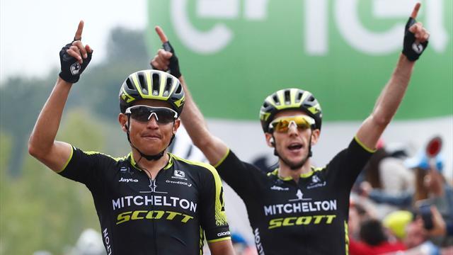 L'étape pour Chaves, le maillot rose pour Yates : Mitchelton marque les esprits à l'Etna