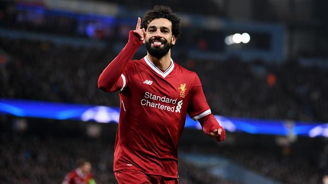 Mohamed Salah challenges Liverpool teammates