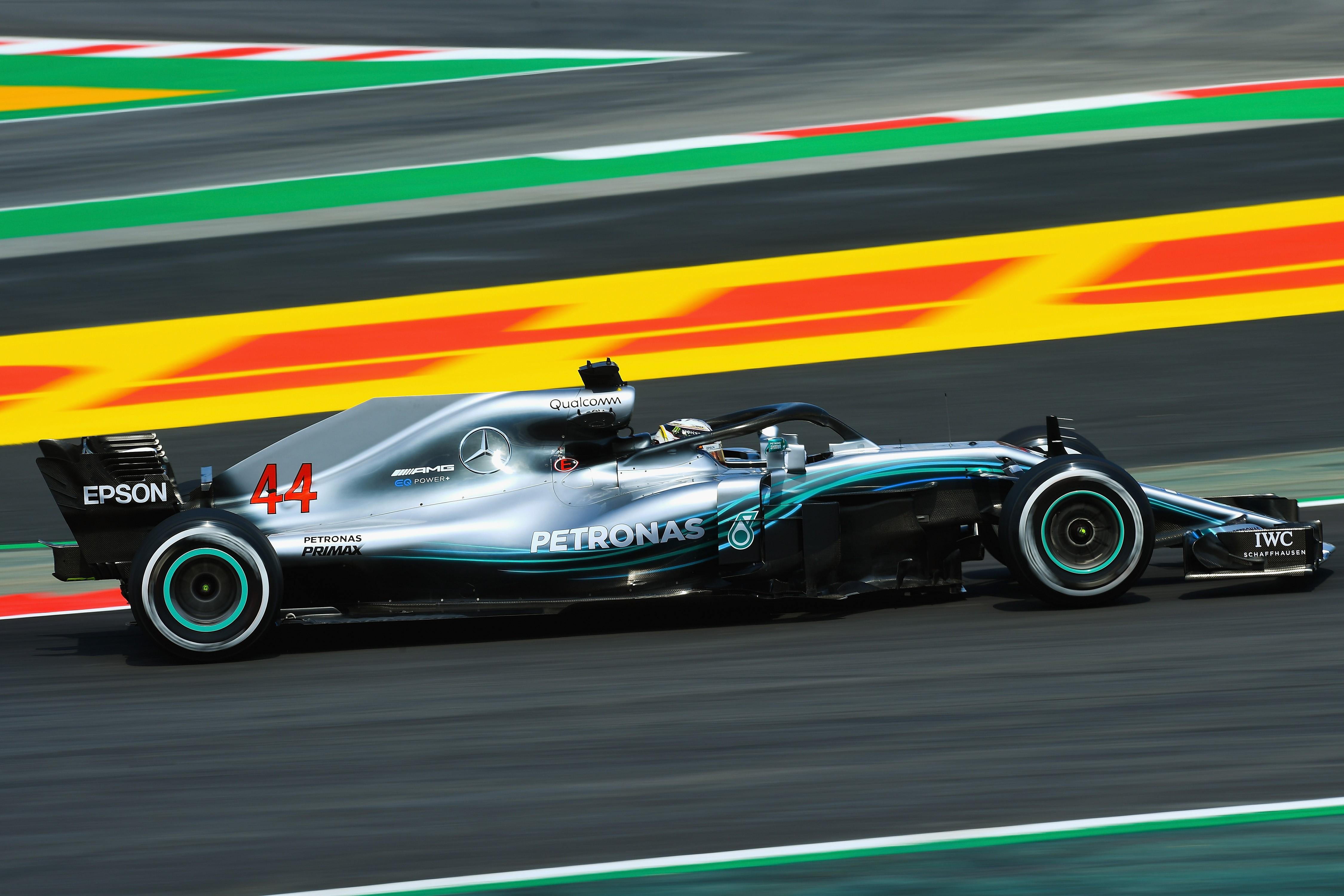 Lewis Hamilton (Mercedes) au Grand Prix d'Espagne 2018