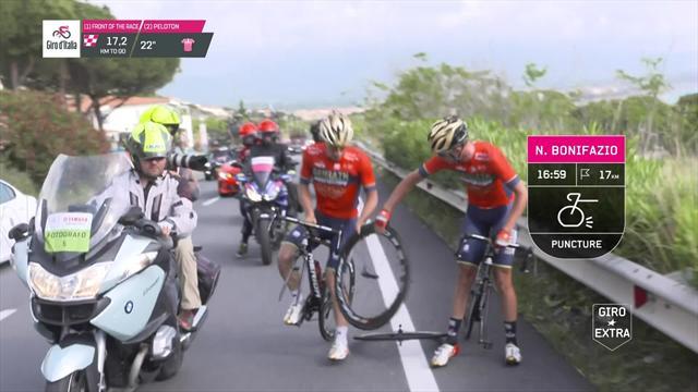 Самые огненные моменты седьмого этапа, на котором один гонщик порвал колесо, а другой вырвал финиш