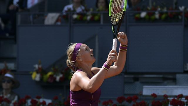 Bertens eases into Madrid final at expense of Garcia, Kvitova beats Pliskova