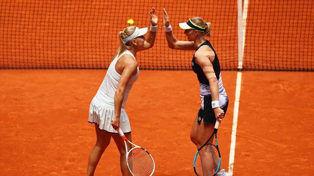 Макарова иВеснина стали победительницами теннисного турнира вМадриде впарном разряде