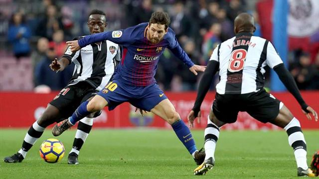 Barcelona, sin Messi, se quedó sin invicto