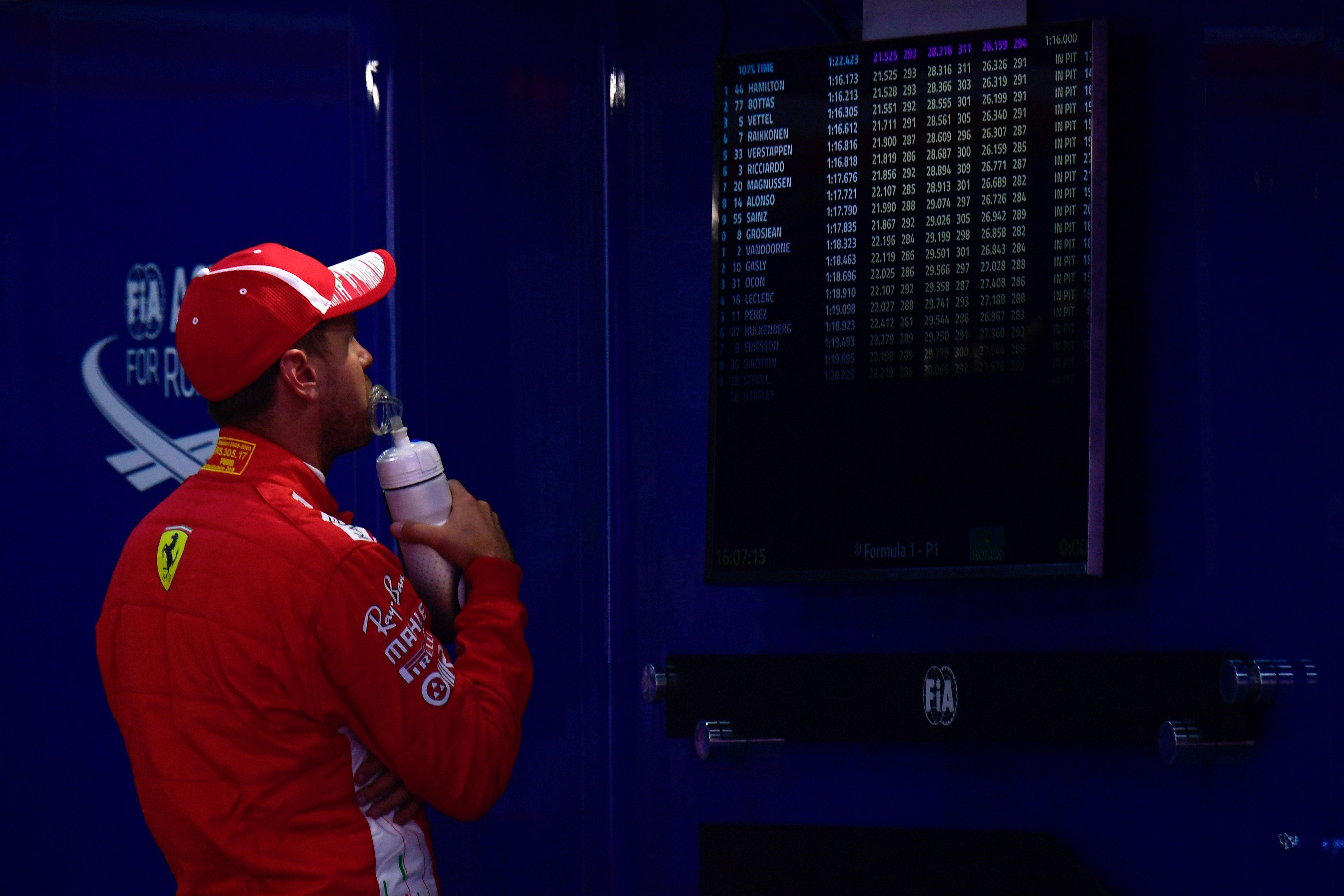Sebastian Vettel (Ferrari) au Grand Prix d'Espagne 2018