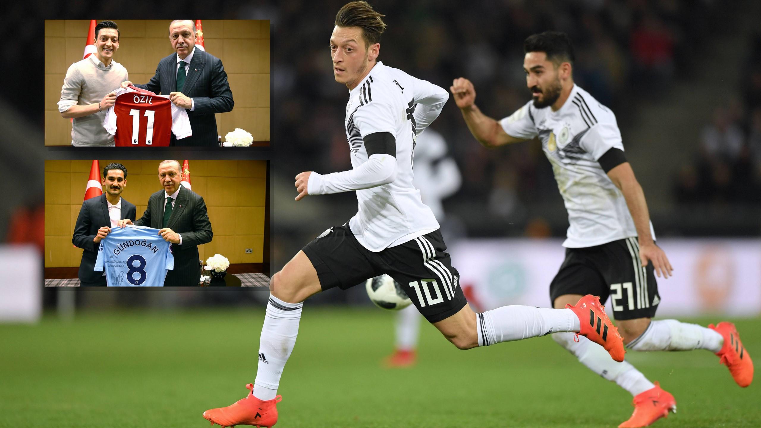 Özil und Gündogan (Quellen: twitter.com/Akparti // imago)