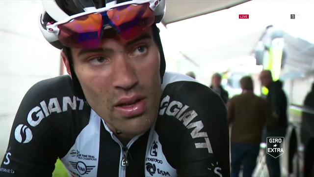 Tom Dumoulin komt met de schrik vrij na loodzware tiende etappe Giro