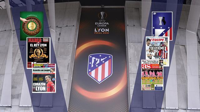 La final de la Europa League, protagonista en las portadas
