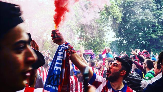 À quelques heures de la finale, les fans de l'Atlético mettent déjà l'ambiance à Lyon