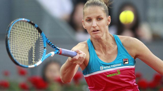 Rom: Wütende Pliskova schlägt Loch in Schiedsrichterstuhl