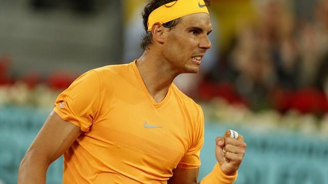 Rafael Nadal eases past Damir Dzumhur at Internazionali BNL d'Italia