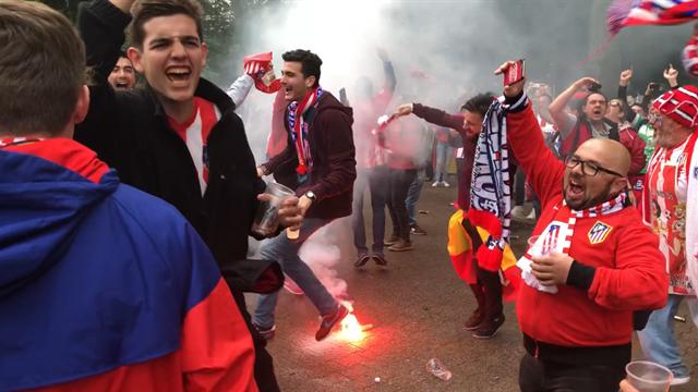 Les fans de l'OM et de l'Atlético ont assuré l'ambiance à Lyon avant la finale