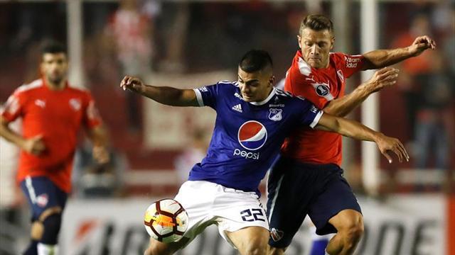 Millonarios e Independiente definen su suerte en la Copa Libertadores