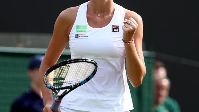 Karolina Pliskova smashes hole in umpire's chair after defeat to Maria Sakkari