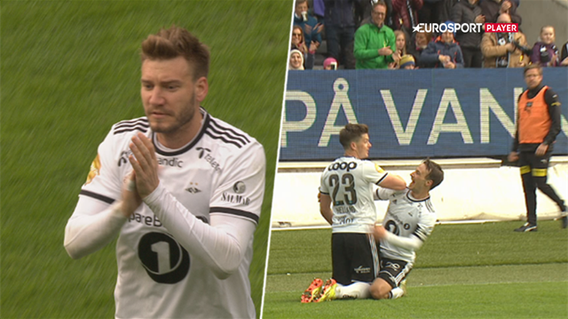 Highlights: Bendtner scorede i sikker Rosenborg-sejr