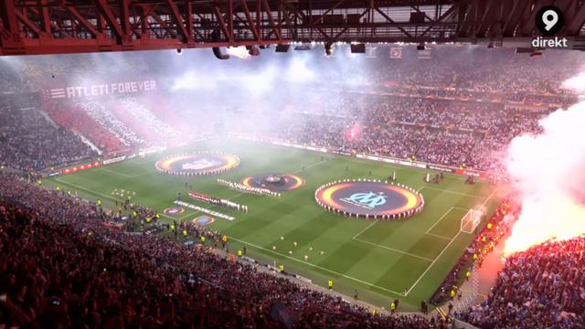 Mäktigt tifo i Europa League - titta själva!