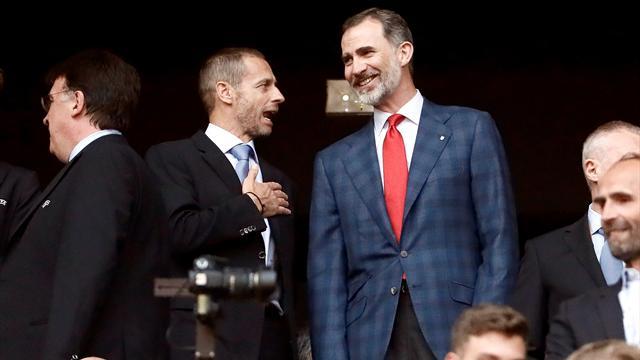 El apoyo del Rey Felipe VI al Atlético presidiendo la final de la Europa League
