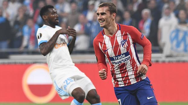 En directo, Final Europa League: El Atlético vence al descanso gracias a un gol de Griezmann