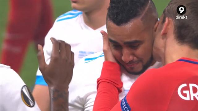 Fina scener - Payet kramas om av Atlético-stjärnan