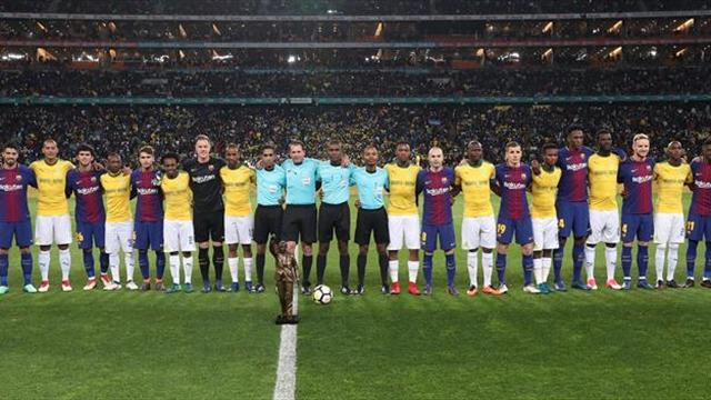 1-3. El Barça derrota al Mamelodi en el centenario del nacimiento de Mandela