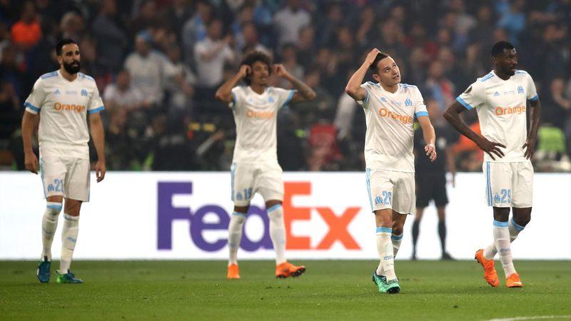 La détresse des joueurs de l'OM lors de la finale de Ligue Europa