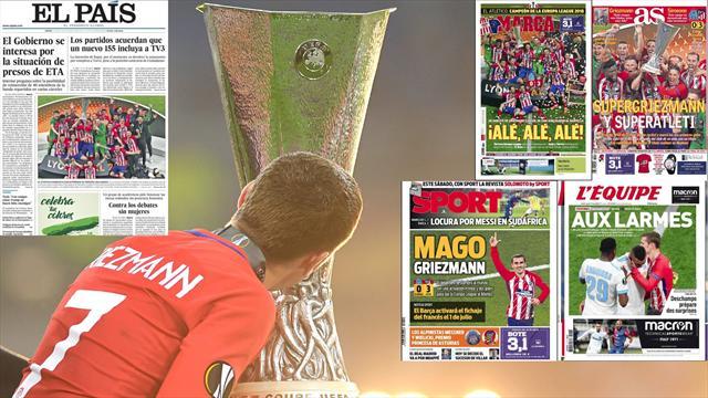 Las portadas encumbran a Griezmann tras una nueva hazaña europea del Atleti