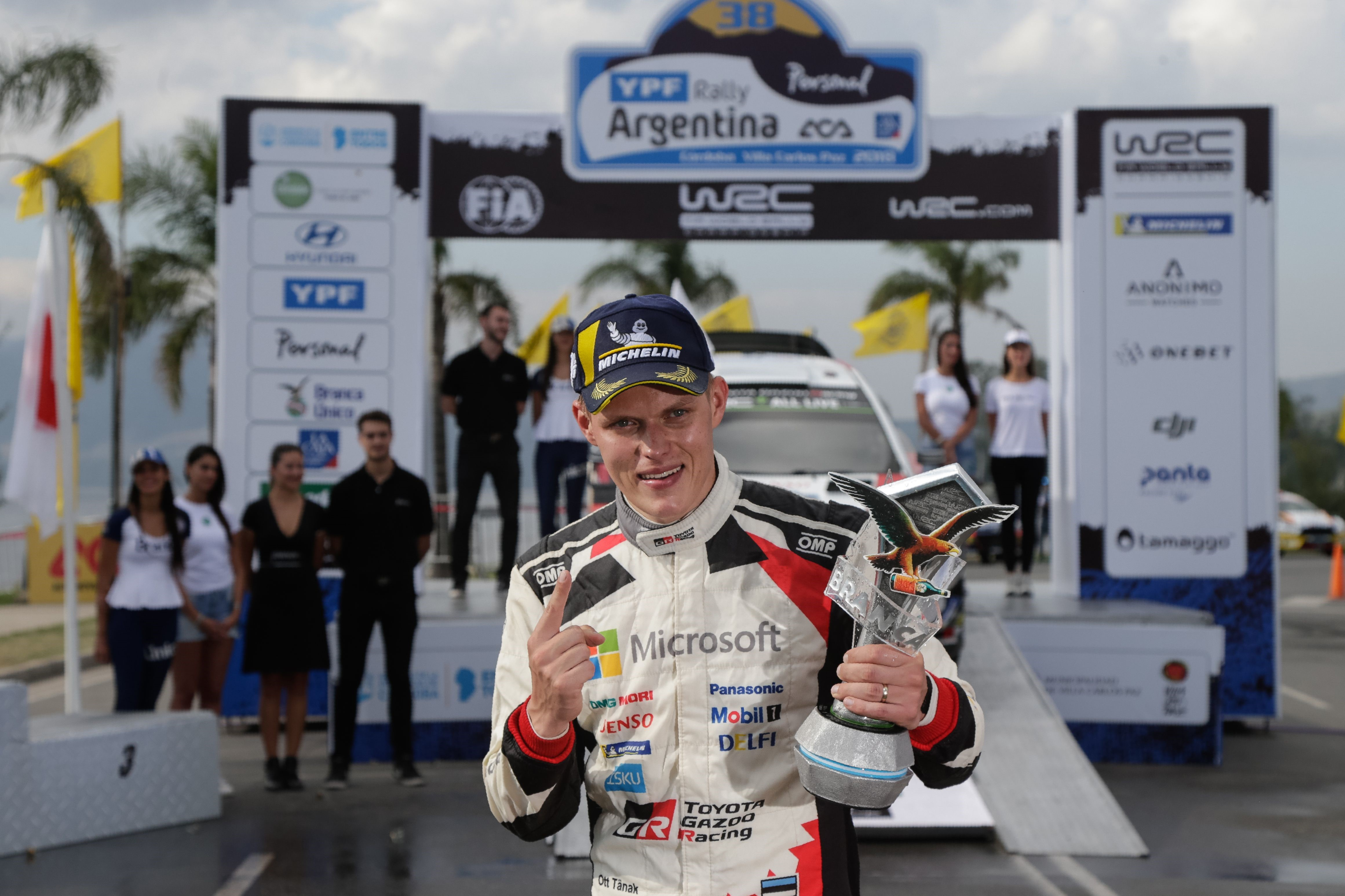 Ott Tänak (Toyota WRT) au Rallye d'Argentine 2018
