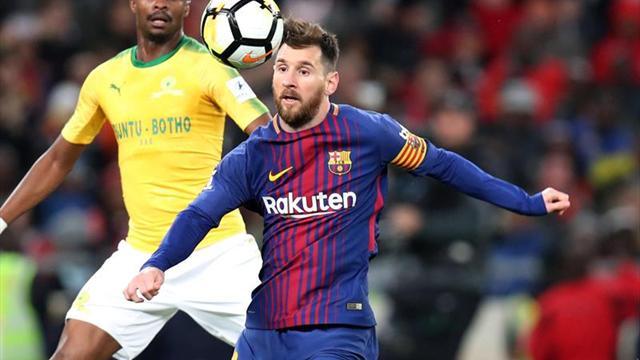 Lionel Messi solo jugó veinte minutos para Barcelona en Sudáfrica