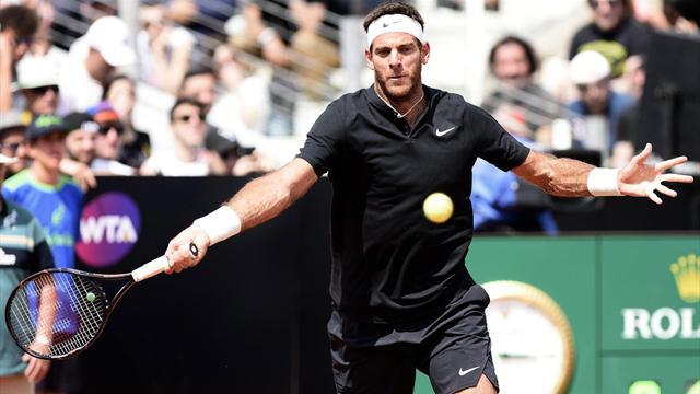 Masters 1.000 Roma: Del Potro se retira ante Goffin y hace saltar las alarmas antes de Roland Garros