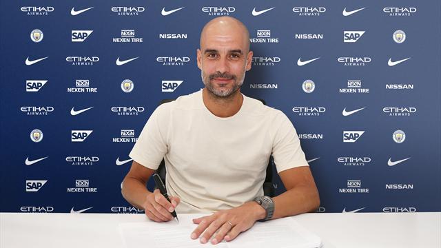 Pep Guardiola renueva su contrato con el Manchester City hasta 2021