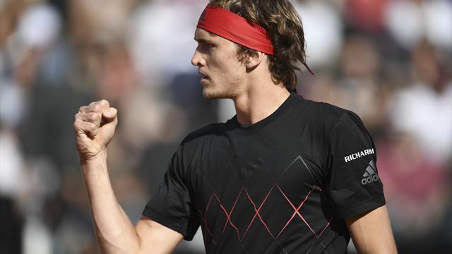 Titelverteidiger Zverev im Viertelfinale von Rom