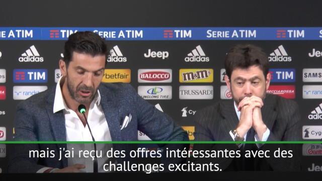 Juventus: Buffon dit au revoir au club mais pas forcément au football