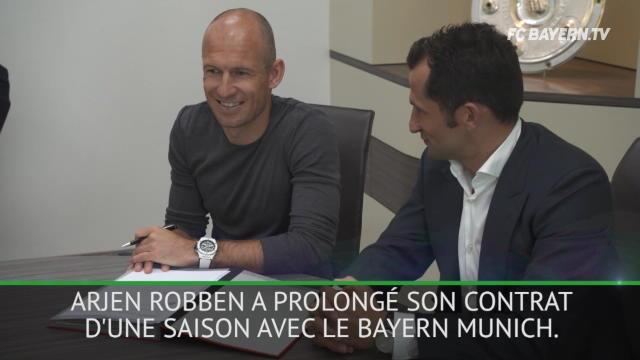 Bayern Munich - Arjen Robben prolonge une saison supplémentaire