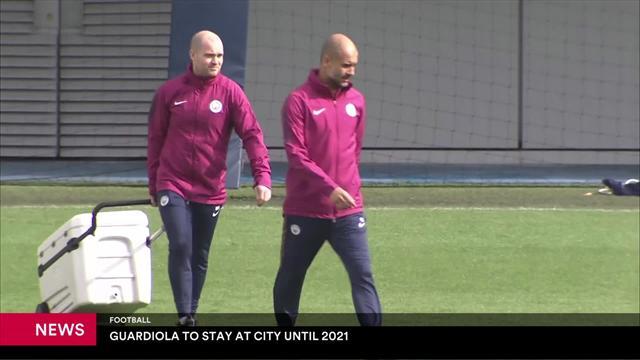 Guardiola renueva por el City hasta 2021 tras ser nombrado mejor técnico de la Premier