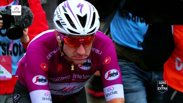 Giro de Italia 2018: Elia Viviani, una perspectiva de la maglia ciclamino