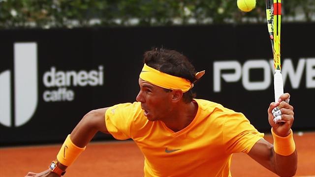 Remontada de Rafa Nadal ante Fabio Fognini para meterse en semifinales de Roma (4-6, 6-1 y 6-2)