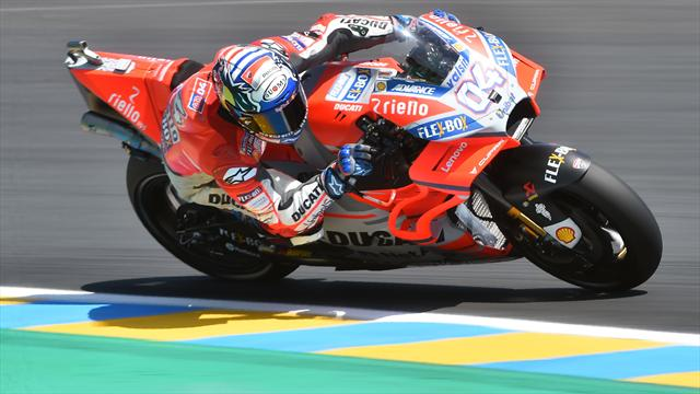 Libres 2 : Dovizioso devant Marquez et Rossi