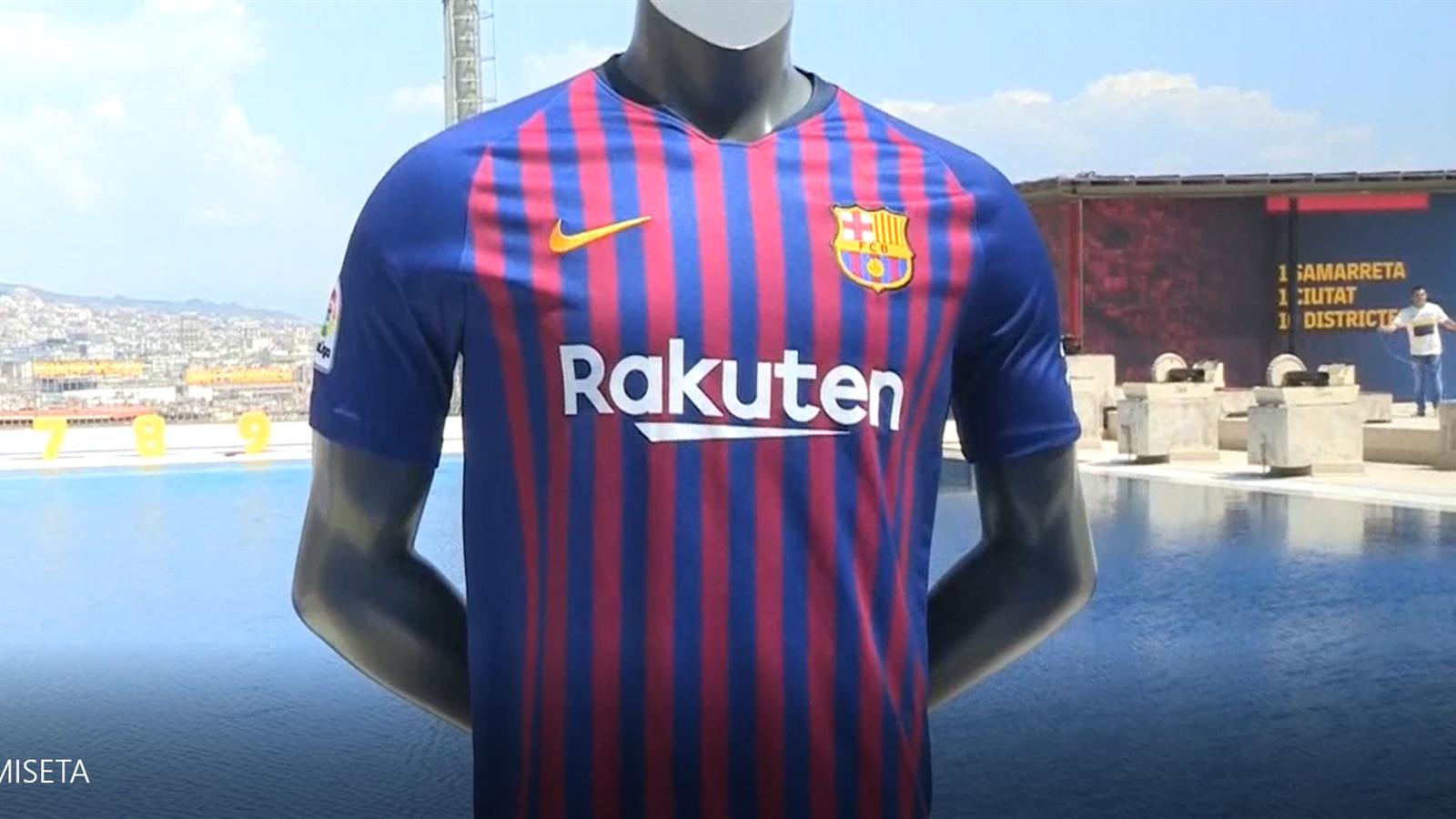 VIDEO - Esta será la camiseta del Barcelona para la temporada 2018 19 -  Video Eurosport Espana 295f3fb4878
